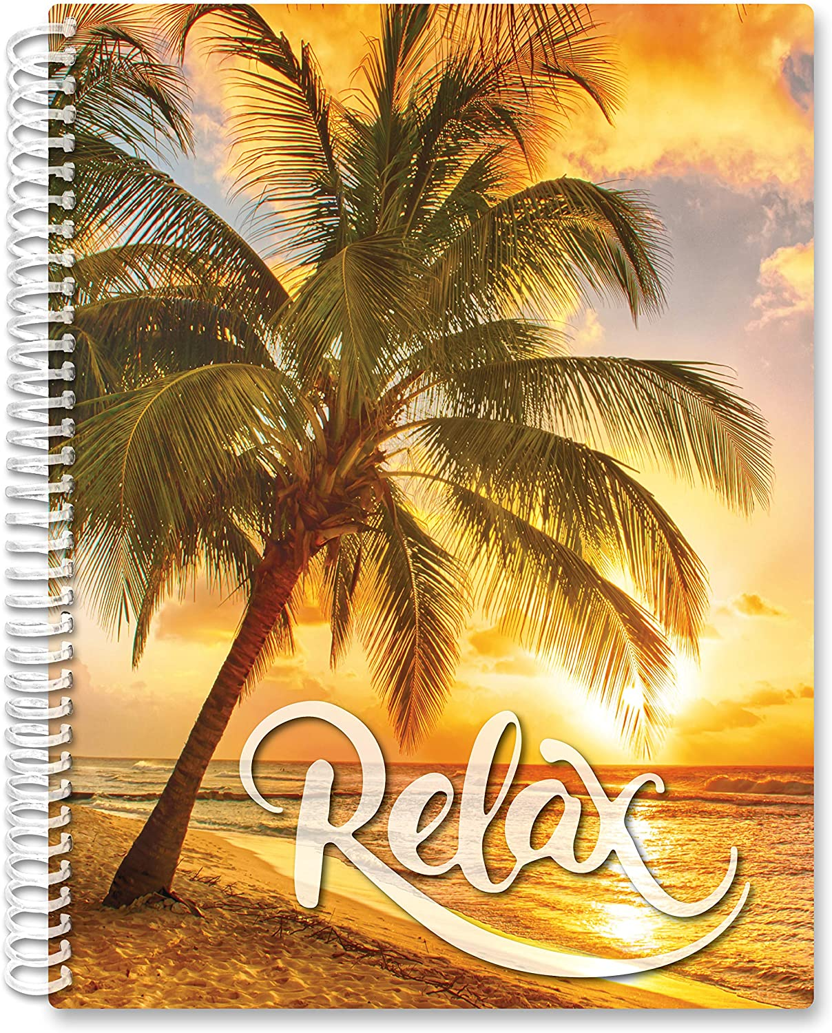 2021 Calendar Year Softcover Planner - 8.5 x 11 - Relax Tropics