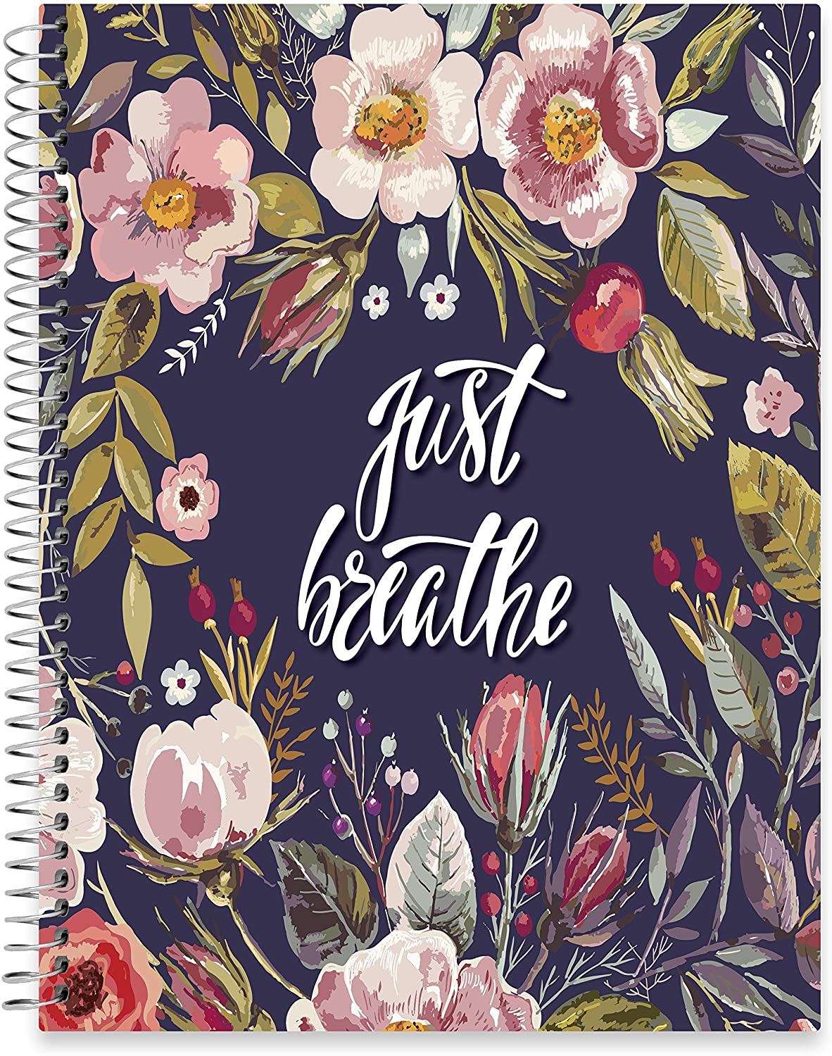 "July 2020 - June 2021 Softcover Planner - 8.5"" x 11"" - Spring Flowers Cover"