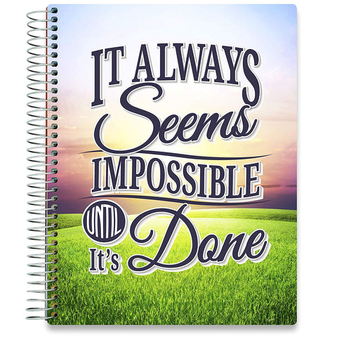 NEW: April 2020-2021 Planner - 8.5x11 - Nothing is Impossible-Office Product-Tools4Wisdom