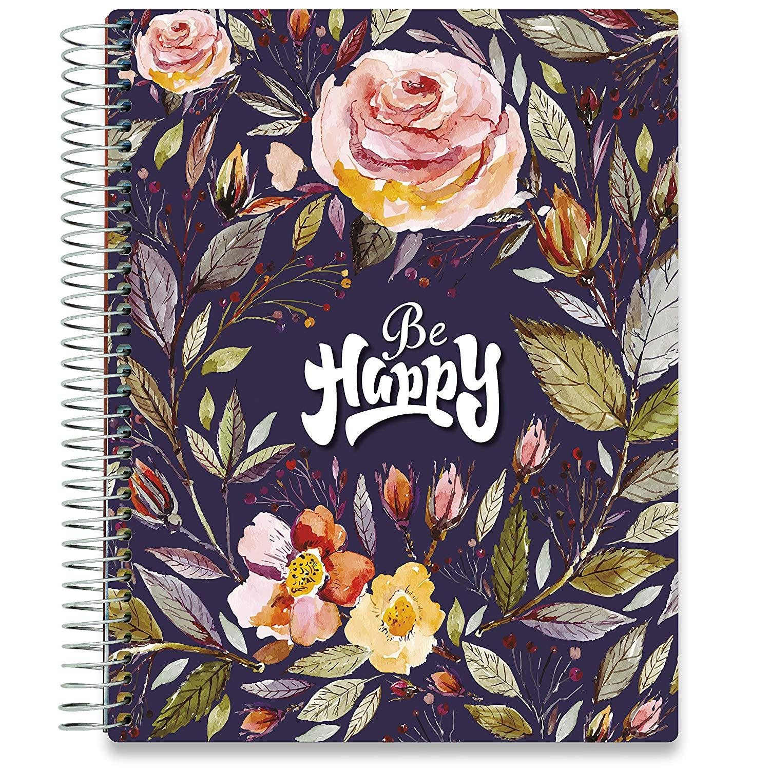 NEW: April 2020-2021 Planner - 8.5x11 - Be Happy v2-Office Product-Tools4Wisdom