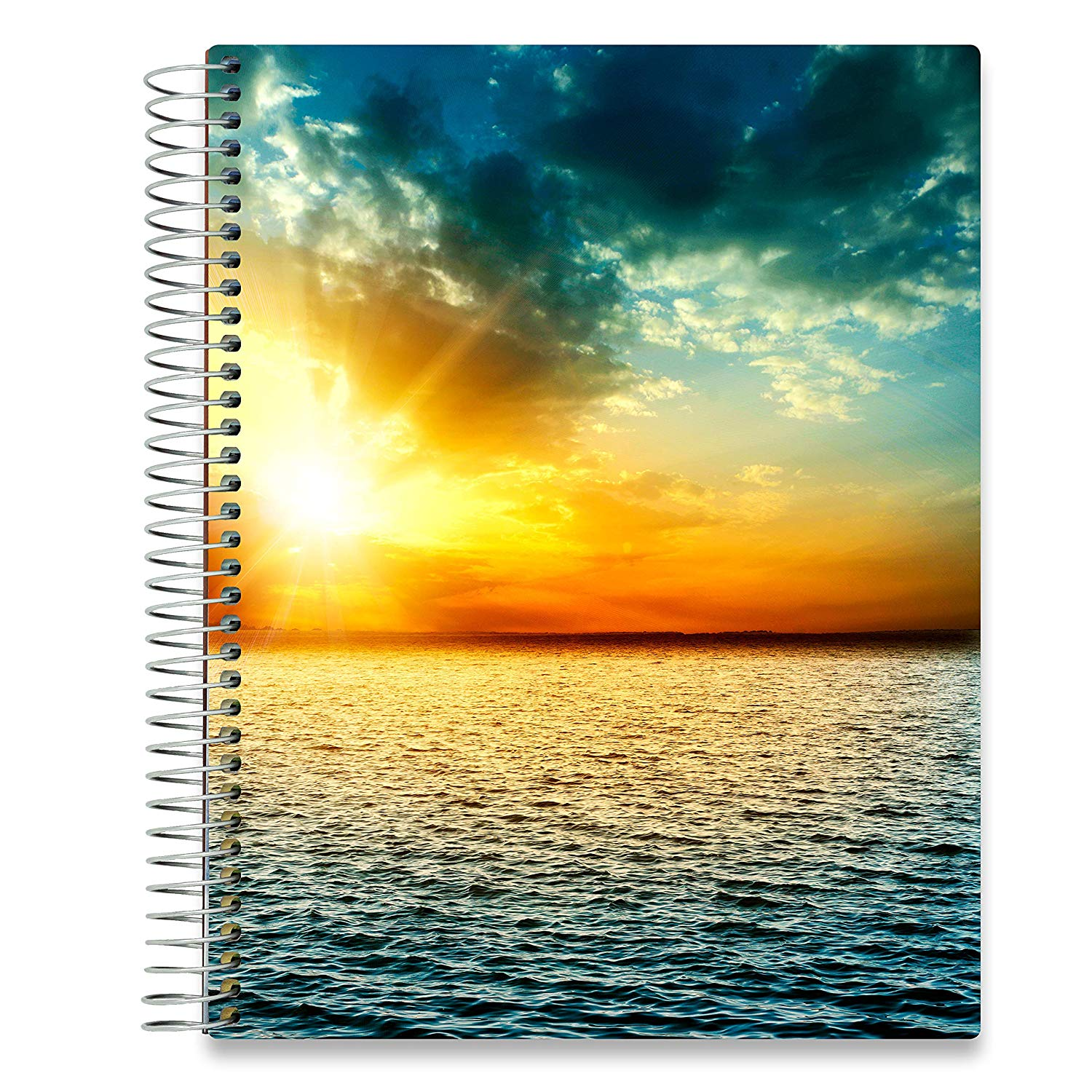 NEW: April 2020-2021 Planner - 8.5x11 - Ocean Sunset-Office Product-Tools4Wisdom