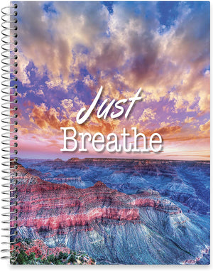 "July 2020 - June 2021 Softcover Planner - 8.5"" x 11"" - Just Breathe Canyon Cover"