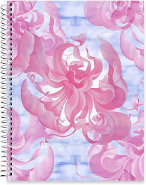 "July 2020 - June 2021 Softcover Planner - 8.5"" x 11"" - Floral Watercolor Cover"