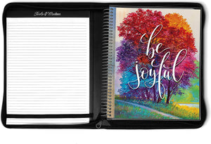 April 2021 to June 2022 Academic Year • 8.5x11 Planner w/ Executive Folio Cover • Be Joyful
