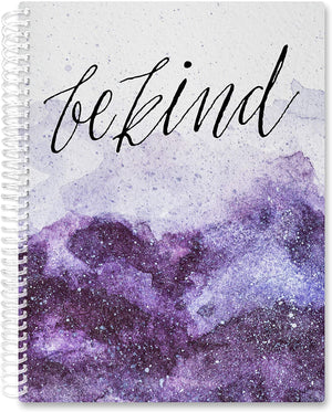 March 2021- Feb 2022 Softcover Planner - 8.5 x 11 - Be Kind Amethyst