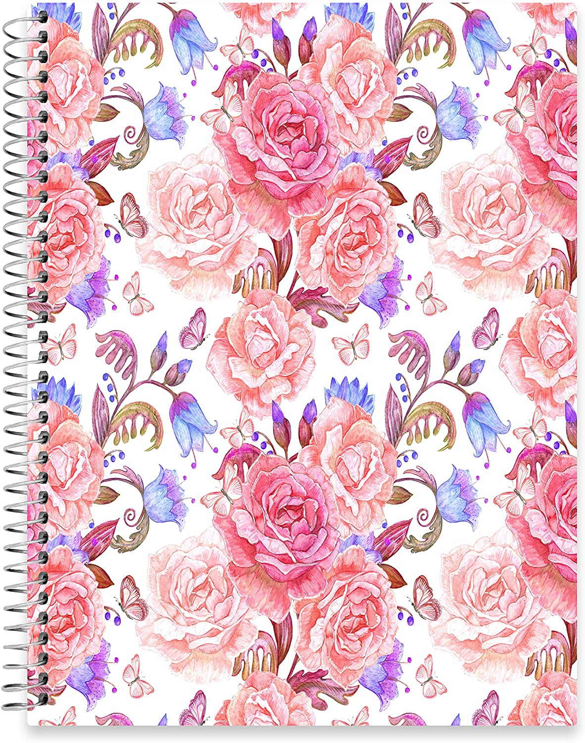 "July 2020 - June 2021 Softcover Planner - 8.5"" x 11"" - Floral Vintage Cover"
