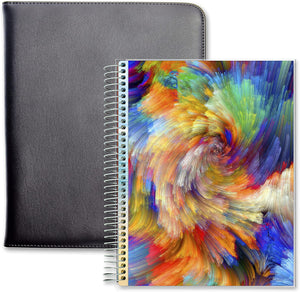 April 2021 to June 2022 Academic Year • 8.5x11 Planner w/ Executive Folio Cover • Colorsplash