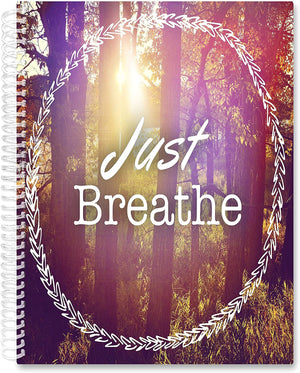 March 2021- Feb 2022 Softcover Planner - 8.5 x 11 - Just Breathe