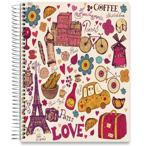 NEW: April 2020-2021 Planner - 8.5x11 - Abstract Paris-Office Product-Tools4Wisdom