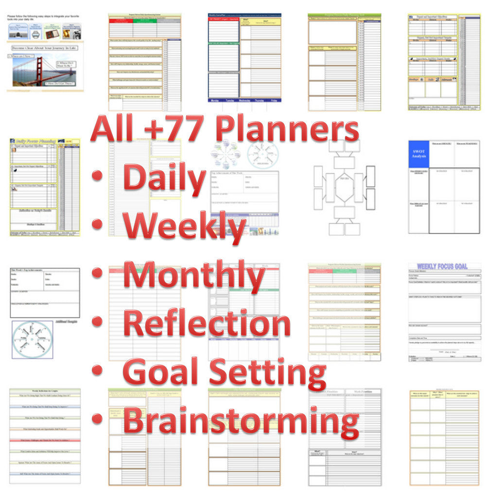 +77 Printable Planners-Calendars, Organizers & Planners-Tools4Wisdom