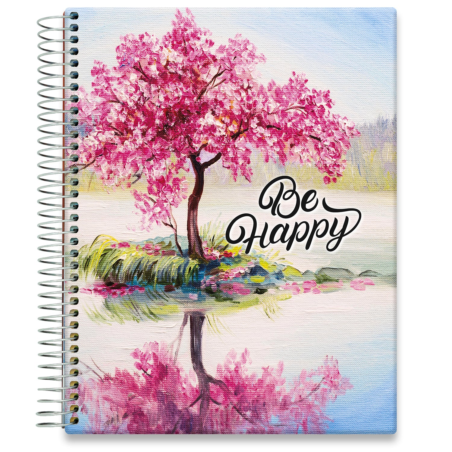 Planner 2021-2022 • April 2021 to June 2022 Academic Year • 8.5x11 Hardcover • Be Happy Quote