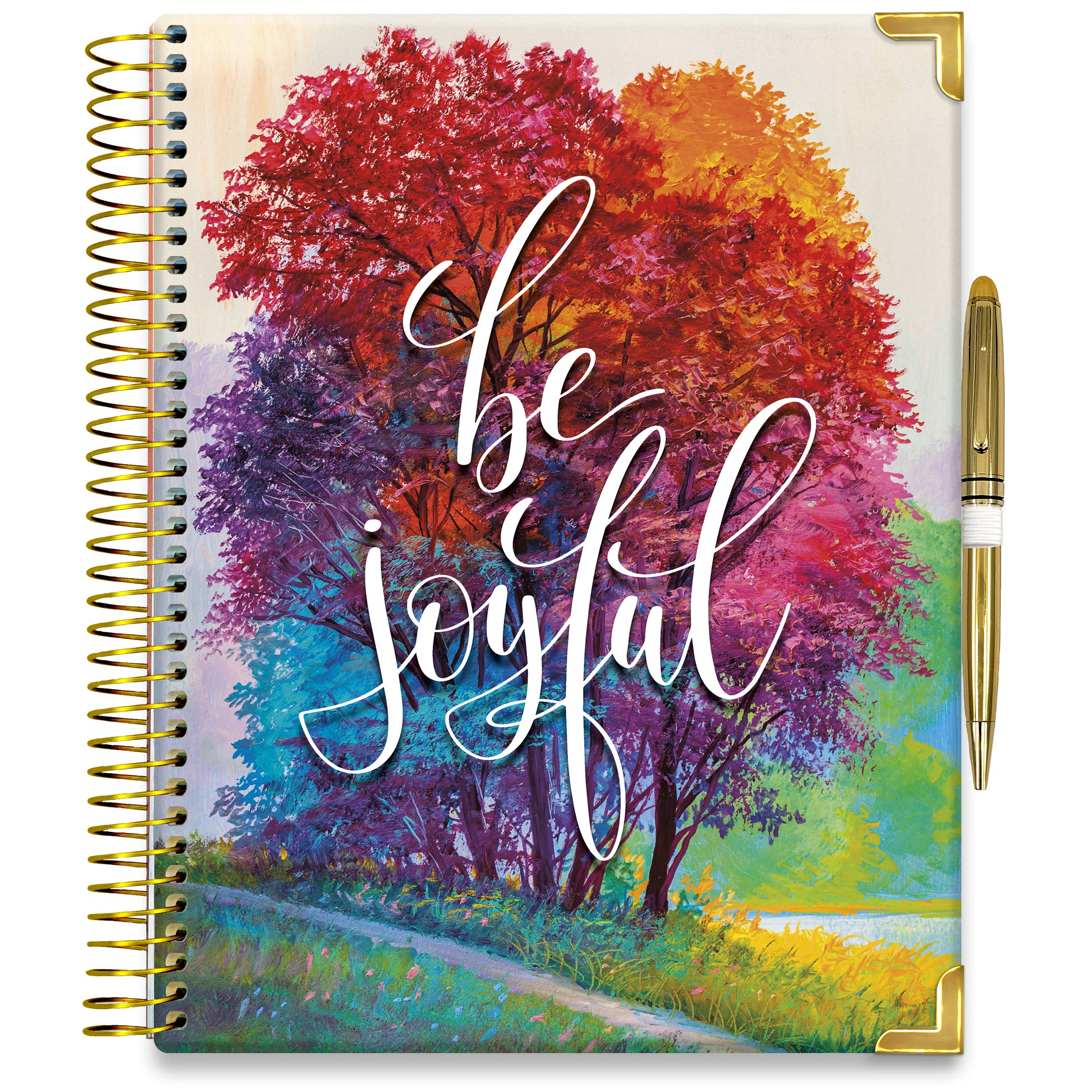 PRE-ORDER: APRIL 2021-2022 Planner - 15M Academic Year - Pro-Edition - 8.5x11 Hardcover - Be Joyful Cover