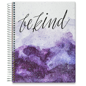 Planner 2021-2022 • April 2021 to June 2022 Academic Year • 8.5x11 Hardcover • Be Kind - Amethyst