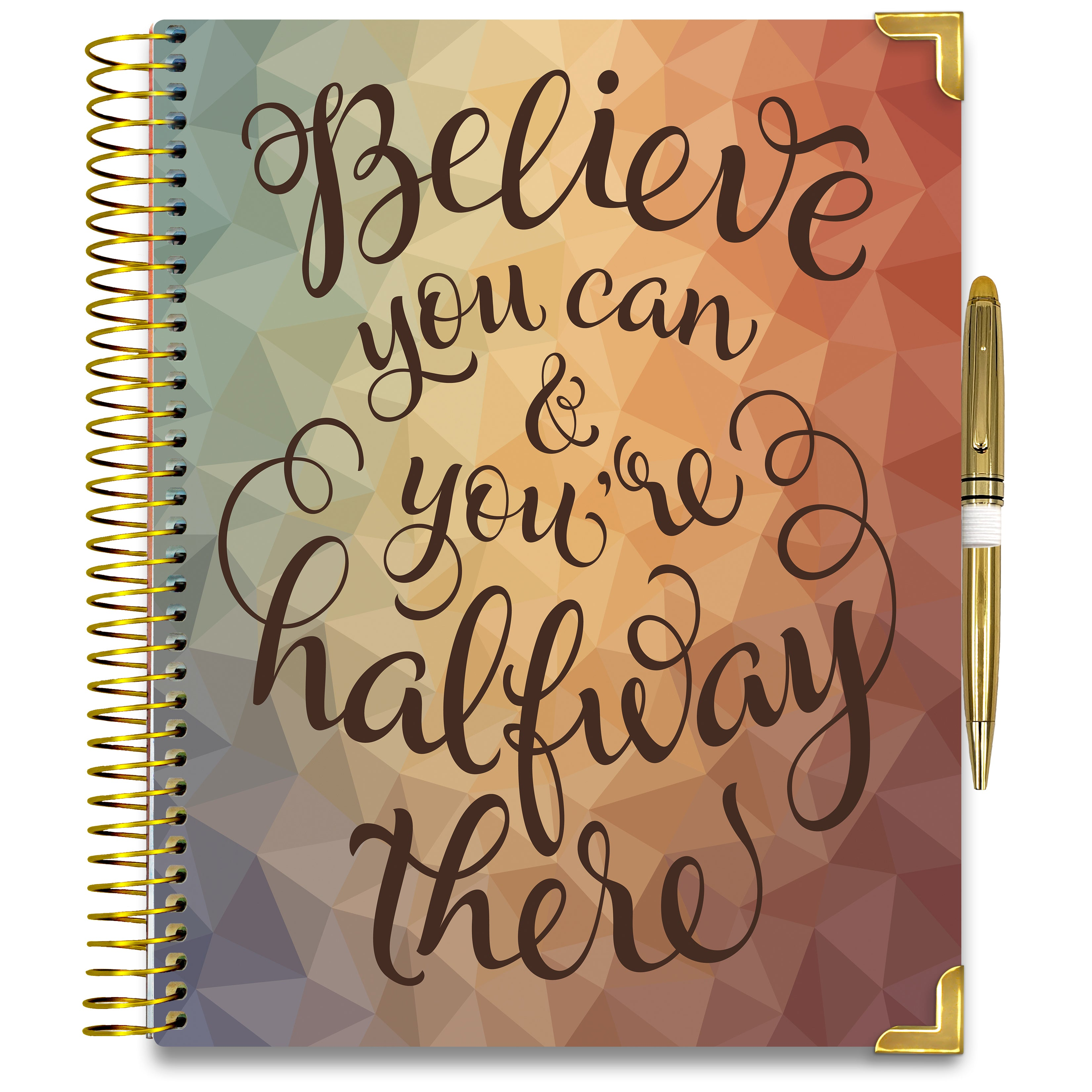 NEW: April 2020-2021 Planner - Gold Edition - Believe You Can-Office Product-Tools4Wisdom