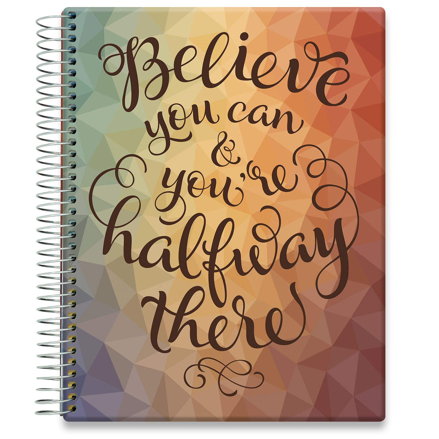 Planner 2021-2022 • April 2021 to June 2022 Academic Year • 8.5x11 Hardcover • Believe U Can