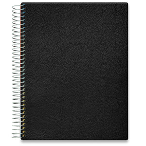 Planner 2021-2022 • April 2021 to June 2022 Academic Year • 8.5x11 Hardcover • Black Planner Cover