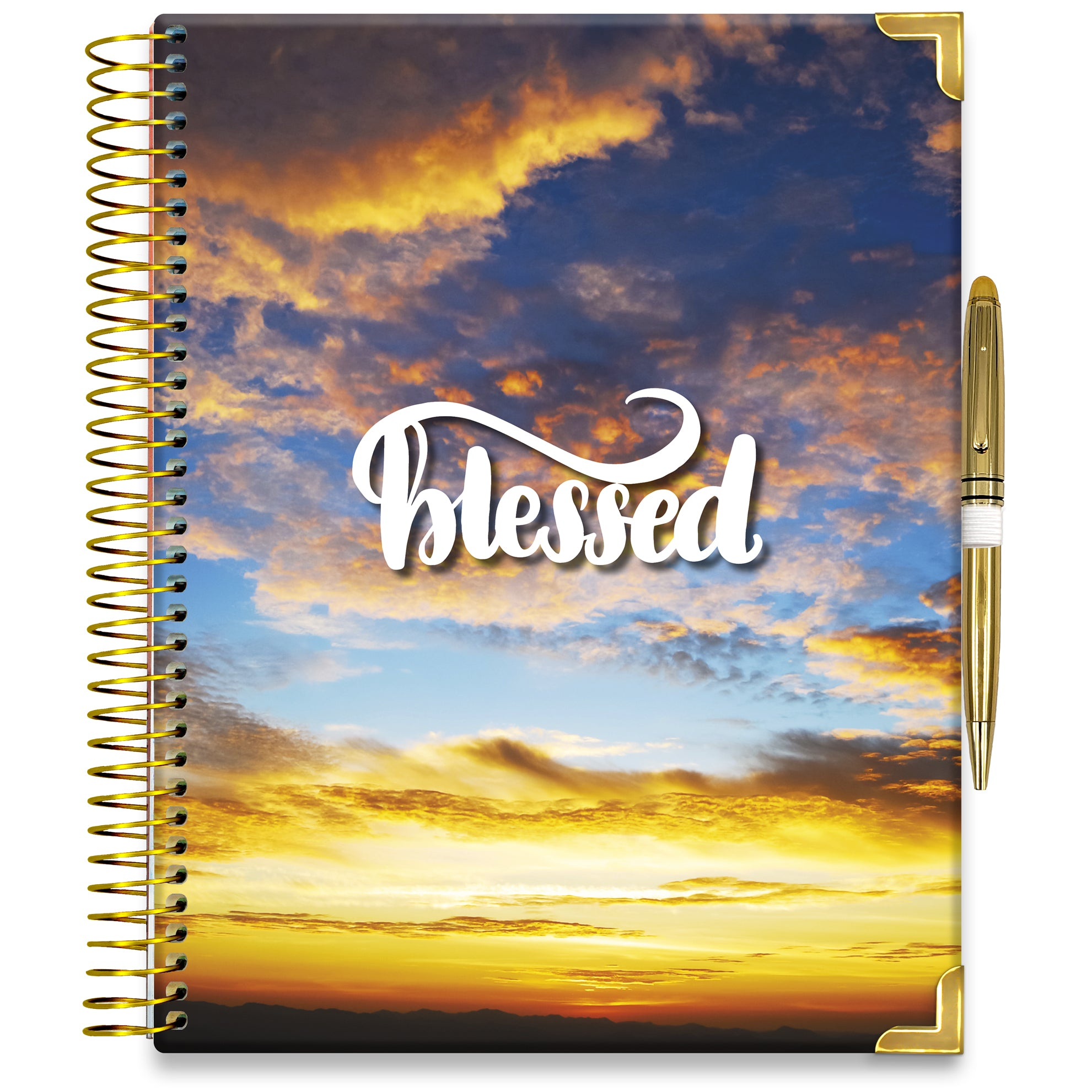 PRE-ORDER: APRIL 2021-2022 Planner - 15M Academic Year - Pro-Edition - 8.5x11 Hardcover - Blessed Blue Sky Cover