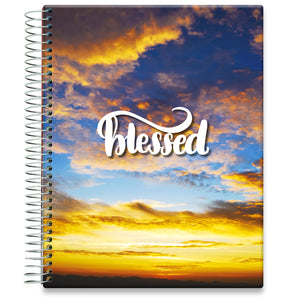 Planner 2021-2022 • April 2021 to June 2022 Academic Year • 8.5x11 Hardcover • Blessed Sunset Cover
