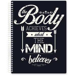 Apr 2021- Jun 2022 Softcover Planner - 8.5 x 11 - Body Mind Quote