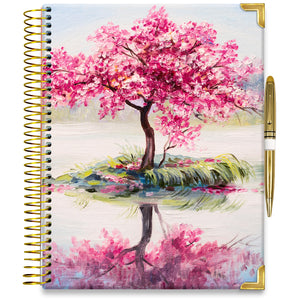 PRE-ORDER: APRIL 2021-2022 Planner - 15M Academic Year - Pro-Edition - 8.5x11 Hardcover - Cherry Blossom Island
