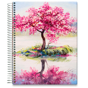 Planner 2021-2022 • April 2021 to June 2022 Academic Year • 8.5x11 Hardcover • Cherry Tree Island