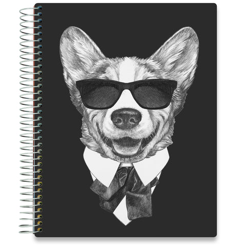 NEW: April 2020-2021 Planner - 8.5x11 - Corgi In Black-Office Product-Tools4Wisdom