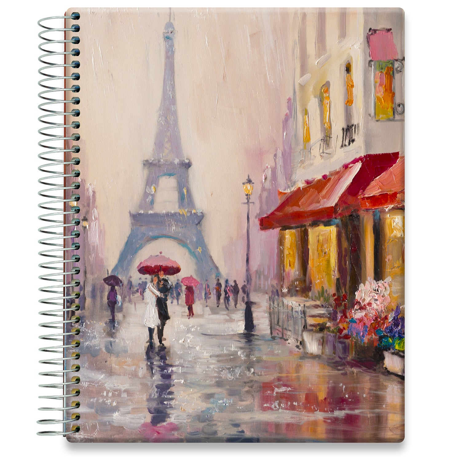 Planner 2021-2022 • April 2021 to June 2022 Academic Year • 8.5x11 Hardcover • Couple in Paris