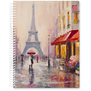 Apr 2021- Jun 2022 Softcover Planner - 8.5 x 11 - Couple in Paris