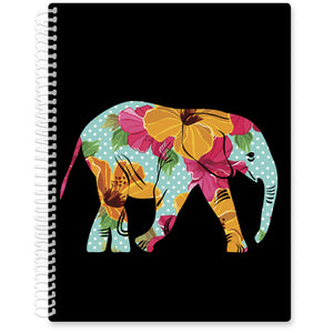 Apr 2021- Jun 2022 Softcover Planner - 8.5 x 11 - Floral Elephant