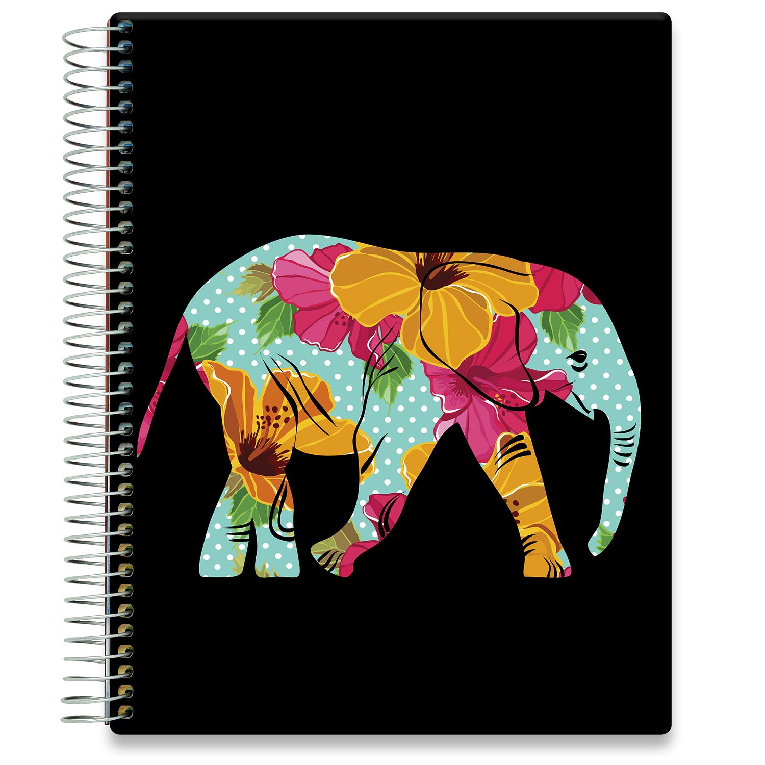 Planner 2021-2022 • April 2021 to June 2022 Academic Year • 8.5x11 Hardcover • Floral Elephant