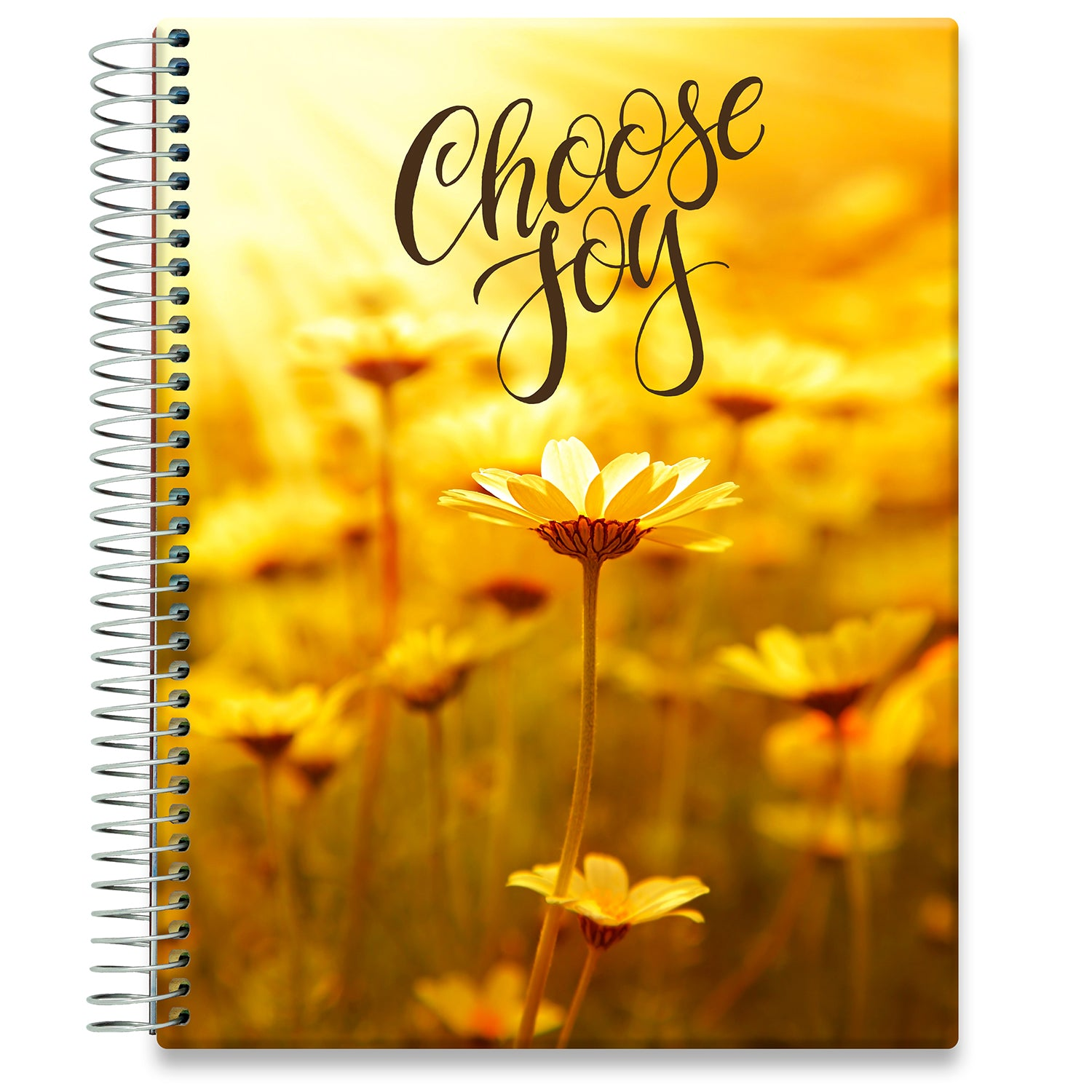 Planner 2021-2022 • April 2021 to June 2022 Academic Year • 8.5x11 Hardcover • Golden Daisies w Quote
