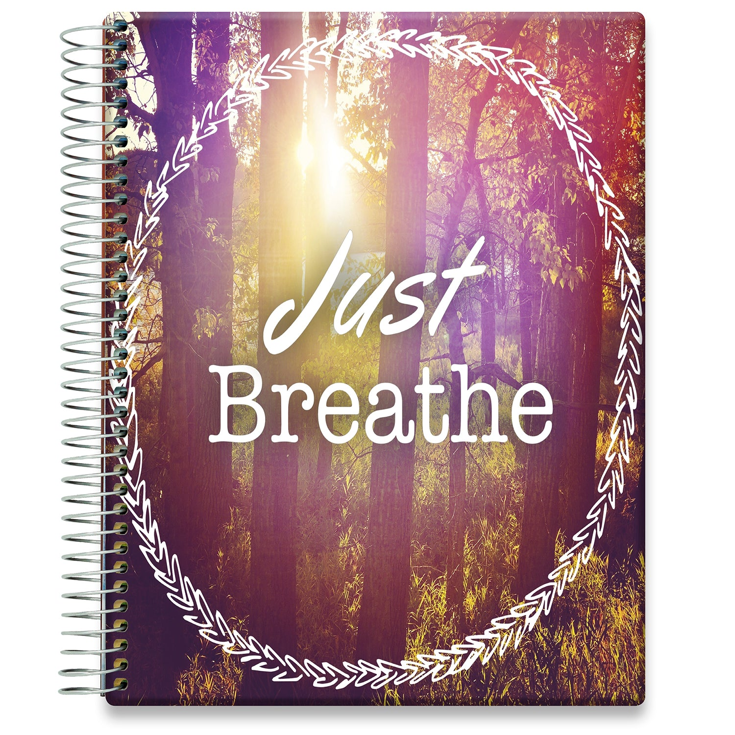 Planner 2021-2022 • April 2021 to June 2022 Academic Year • 8.5x11 Hardcover • Just Breathe