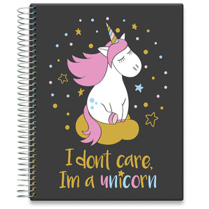 Planner 2021-2022 • April 2021 to June 2022 Academic Year • 8.5x11 Hardcover • Magic Unicorn