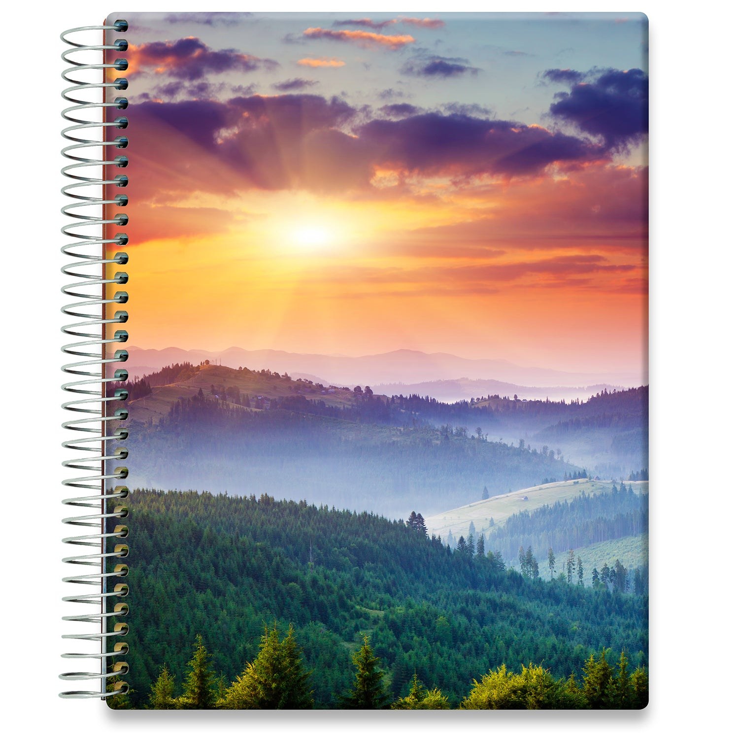 Planner 2021-2022 • April 2021 to June 2022 Academic Year • 8.5x11 Hardcover • Majestic Sunset