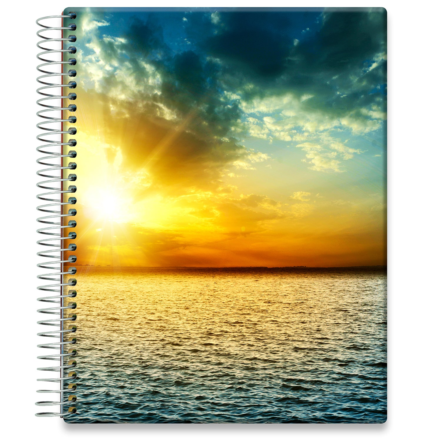 Planner 2021-2022 • April 2021 to June 2022 Academic Year • 8.5x11 Hardcover • Ocean Sunset