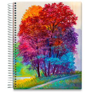 Planner 2021-2022 • April 2021 to June 2022 Academic Year • 8.5x11 Hardcover • Happy Oil Painting Cover