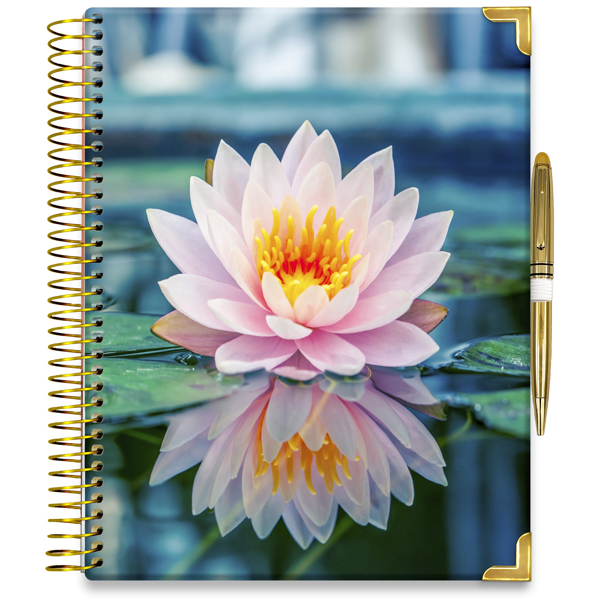 PRE-ORDER: APRIL 2021-2022 Planner - 15M Academic Year - Pro-Edition - 8.5x11 Hardcover - Pink Lilly Planner Cover