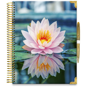 NEW: APRIL 2021-2022 Planner - 15M Academic Year - Pro-Edition - 8.5x11 Hardcover - Pink Lilly Planner Cover