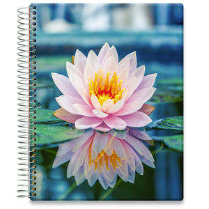 Planner 2021-2022 • April 2021 to June 2022 Academic Year • 8.5x11 Hardcover • Pink Lilly Blossoms