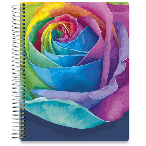 NEW: April 2020-2021 Planner - 8.5x11 - Rainbow Rose - Tools4Wisdom
