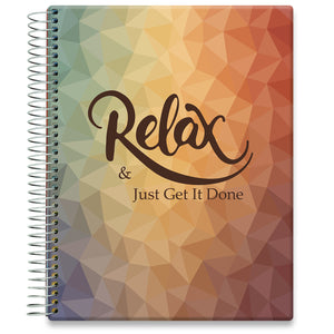 Planner 2021-2022 • April 2021 to June 2022 Academic Year • 8.5x11 Hardcover • Relax n Plan Cover