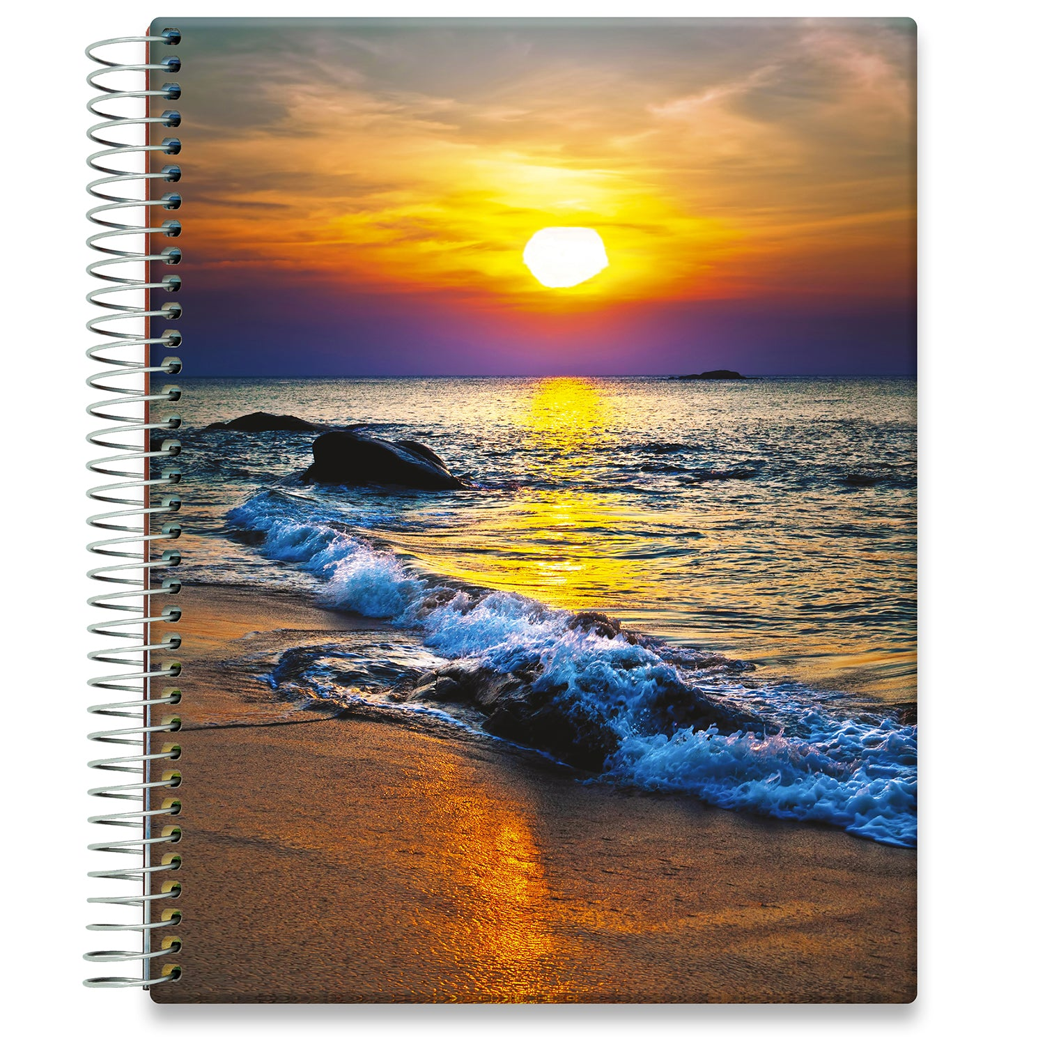 Planner 2021-2022 • April 2021 to June 2022 Academic Year • 8.5x11 Hardcover • Sea Sunset Cover