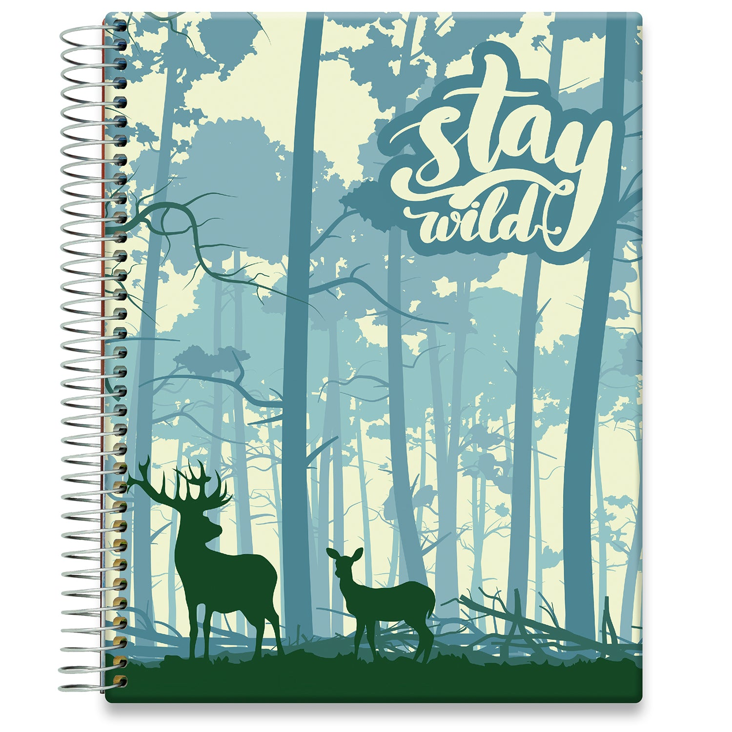 Planner 2021-2022 • April 2021 to June 2022 Academic Year • 8.5x11 Hardcover • Stay Wild Forest Cover