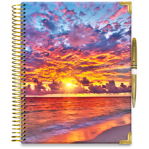 PRE-ORDER: APRIL 2021-2022 Planner - 15M Academic Year - Pro-Edition - 8.5x11 Hardcover - Warm Sunset Planner Cover