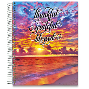 Planner 2021-2022 • April 2021 to June 2022 Academic Year • 8.5x11 Hardcover • Warm Sunset with Quote