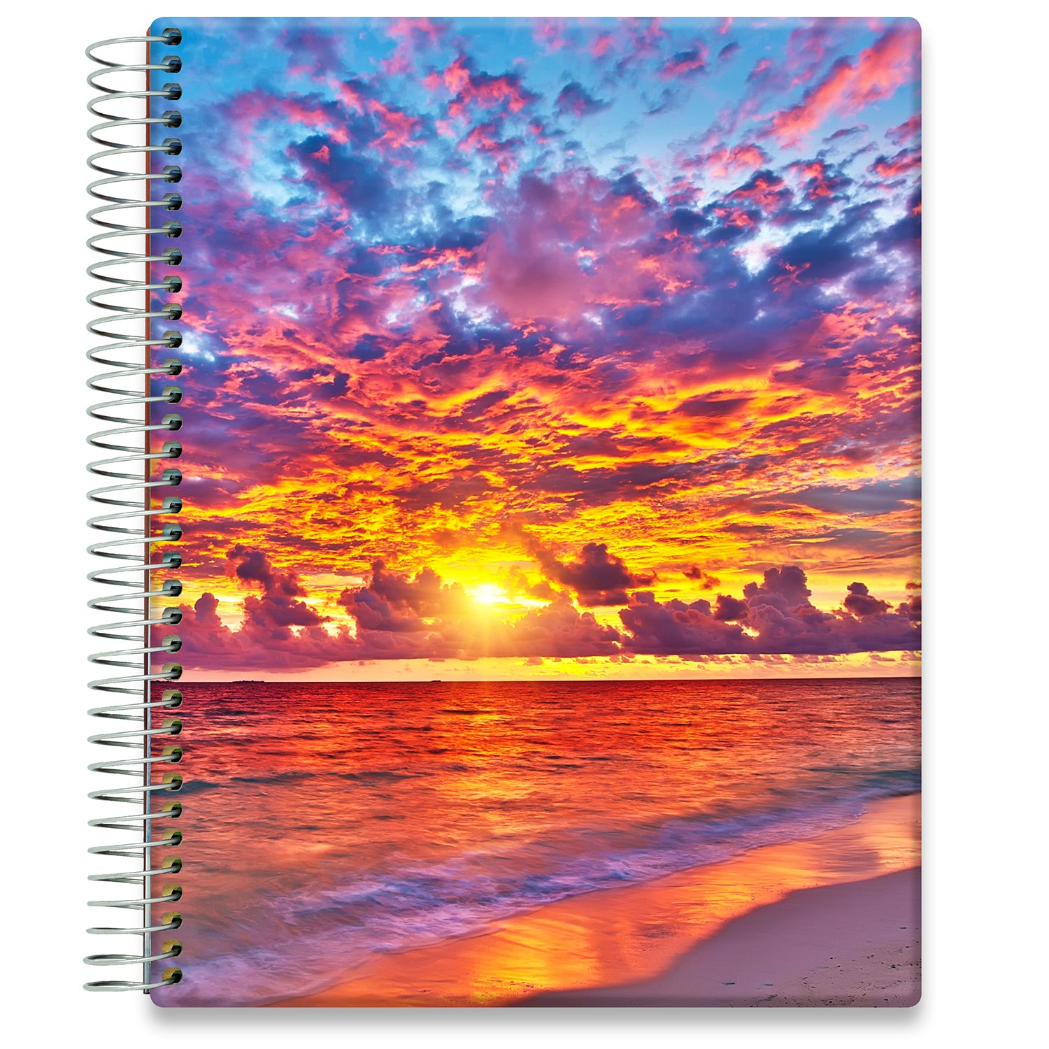 Planner 2021-2022 • April 2021 to June 2022 Academic Year • 8.5x11 Hardcover • Warm Sunset