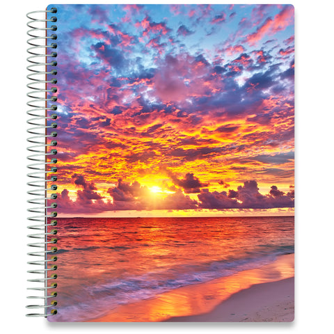 NEW: April 2020-2021 Planner - 8.5x11 - Warm Sunset - Tools4Wisdom