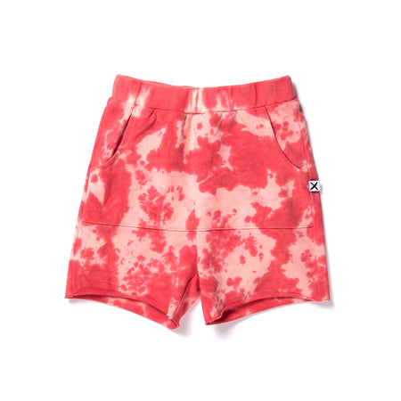 Minti Marble Short - Red Tie Dye