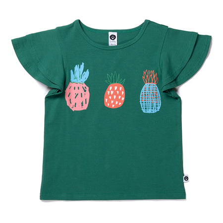 Littlehorn Pineapple Trio Tee - Vivid Green