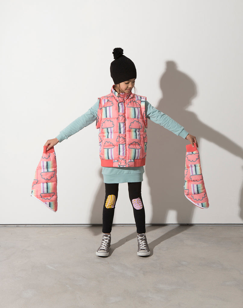 Minti Raining Rainbows Ultimate Puffa Jacket